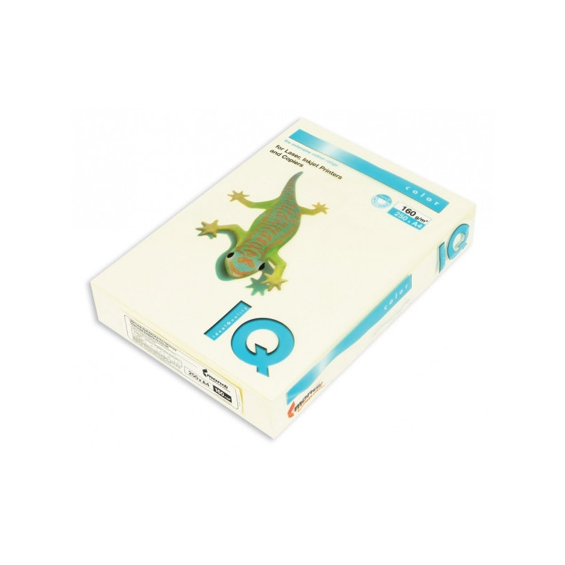 Бумага цветная IQ COLOR А4 160 г BE66-ванильно-бежевый пачка 250 листов