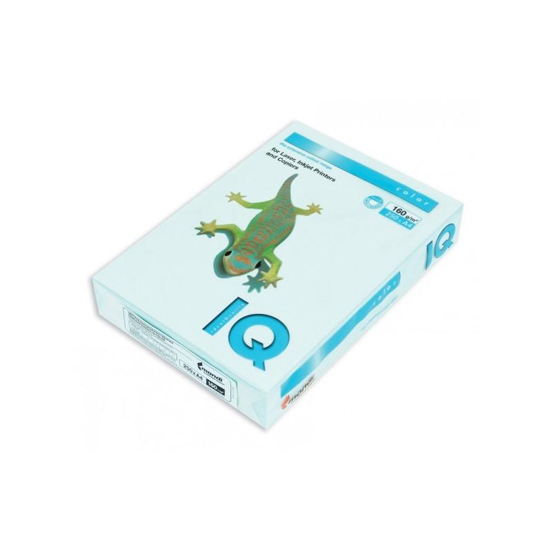 Бумага цветная IQ COLOR А4 160 г BL29-светло-голубой пачка 250 листов