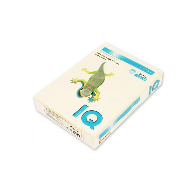Бумага цветная IQ COLOR А4 160 г CR20-кремовый пачка 250 листов