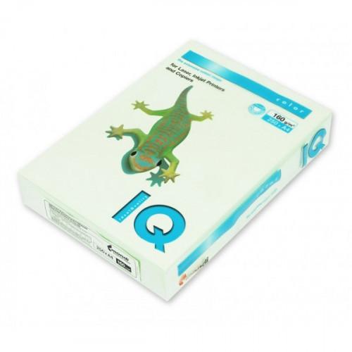 Бумага цветная IQ COLOR А4 160 г GN27-светло-зеленый пачка 250 листов