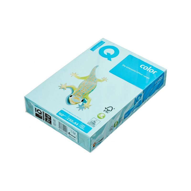 Бумага цветная IQ COLOR А4 160 г MB30-голубой пачка 250 листов