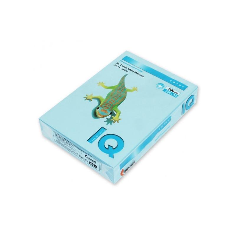 Бумага цветная IQ COLOR А4 160 г OBL70-голубой лед пачка 250 листов