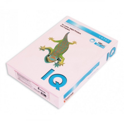 Бумага цветная IQ COLOR А4 160 г OP174-розовый фламинго пачка 250 листов