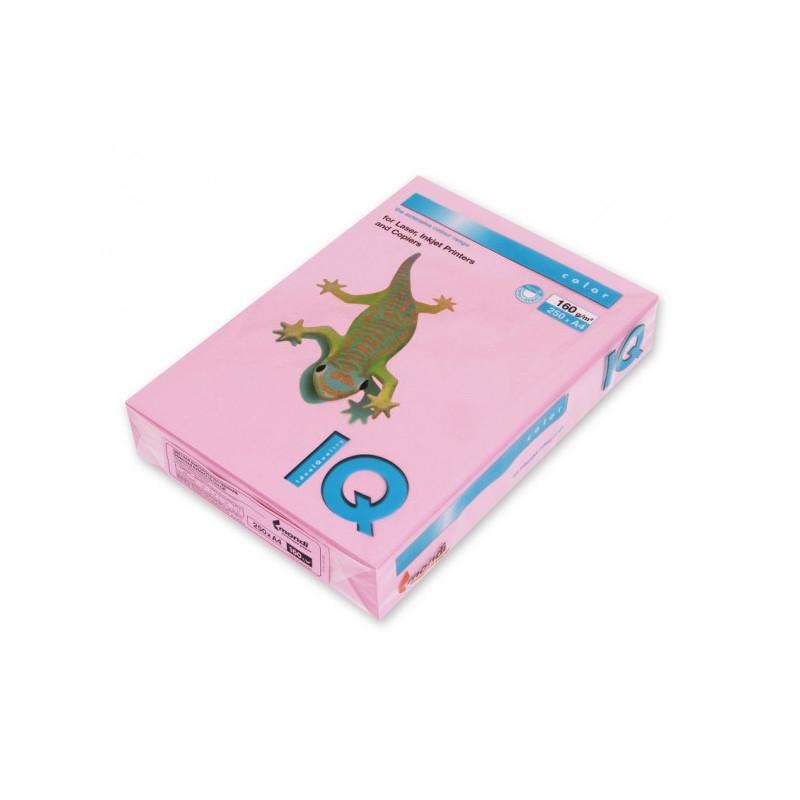 Бумага цветная IQ COLOR А4 160 г PI25-розовый пачка 250 листов