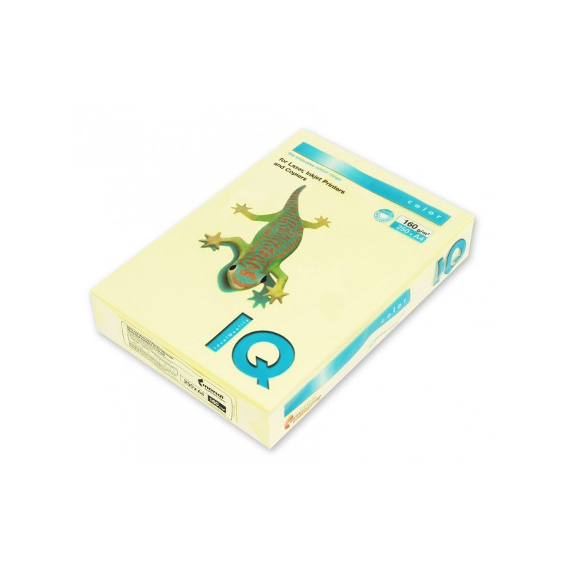 Бумага цветная IQ COLOR А4 160 г YE23-желтый  пачка 250 листов