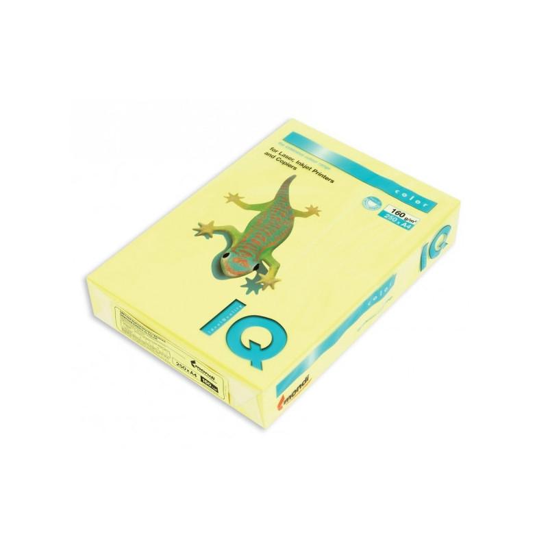 Бумага цветная IQ COLOR А4 160 г ZG34-лимонно-желтый пачка 250 листов