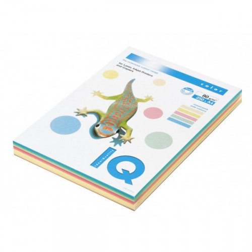 Бумага цветная IQ COLOR А4 80 г 5 цветов по 50 листов 250 листов