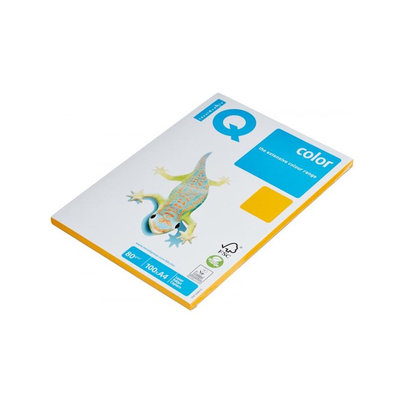 Бумага цветная IQ COLOR А4 80 г AG10-старое золото пачка 100 листов