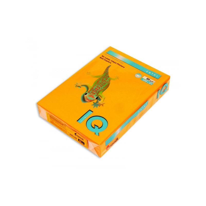 Бумага цветная IQ COLOR А4 80 г AG10-старое золото пачка 500 листов