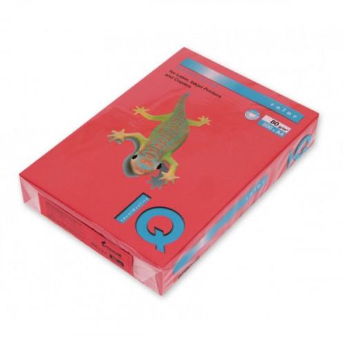 Бумага цветная IQ COLOR А4 80 г CO44-кораллово-красный пачка 500 листов