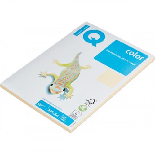 Бумага цветная IQ COLOR А4 80 г CR20-кремовый пачка 100 листов