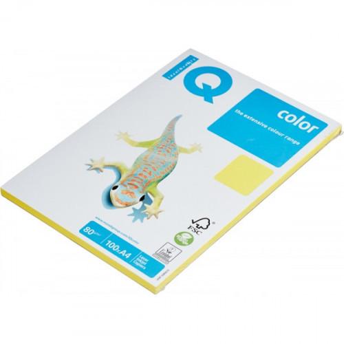 Бумага цветная IQ COLOR А4 80 г CY39-канареечно-желтый пачка 100 листов