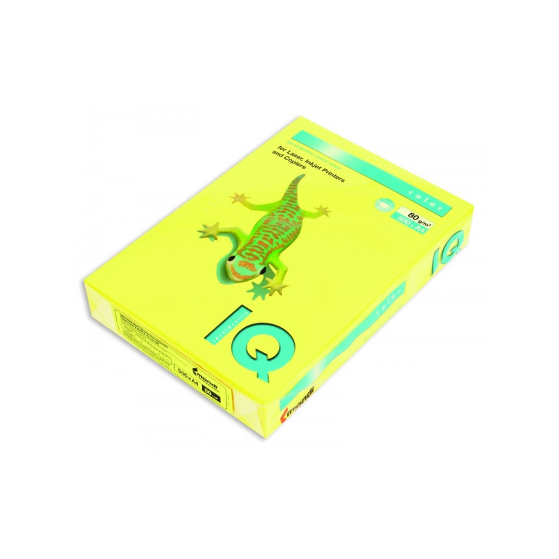 Бумага цветная IQ COLOR А4 80 г CY39-канареечно-желтый пачка 500 листов
