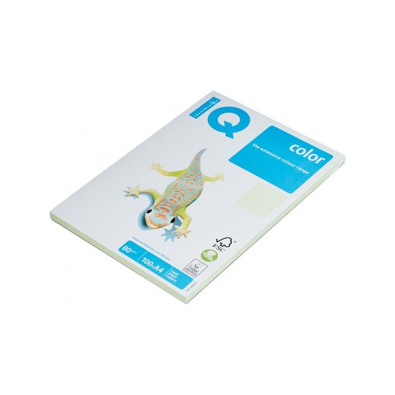 Бумага цветная IQ COLOR А4 80 г GN27-светло-зеленый  пачка 100 листов