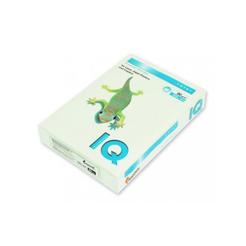 Бумага цветная IQ COLOR А4 80 г GN27-светло-зеленый пачка 500 листов