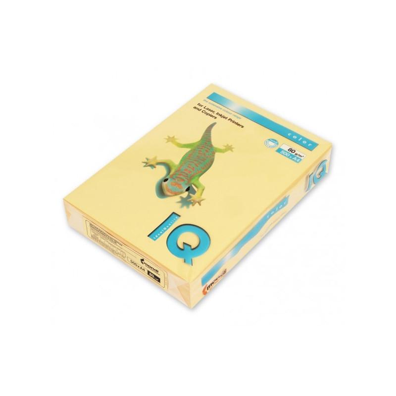 Бумага цветная IQ COLOR А4 80 г GO22-золотистый пачка 500 листов