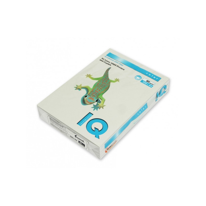 Бумага цветная IQ COLOR А4 80 г GR21-серый пачка 500 листов