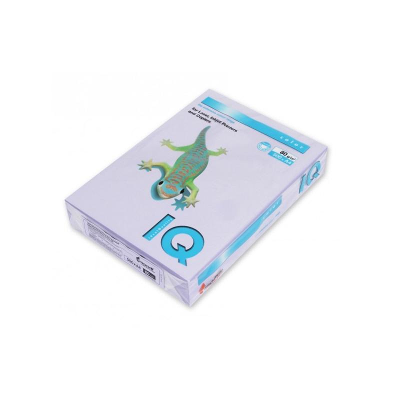 Бумага цветная IQ COLOR А4 80 г LA12-бледно-лиловый пачка 500 листов