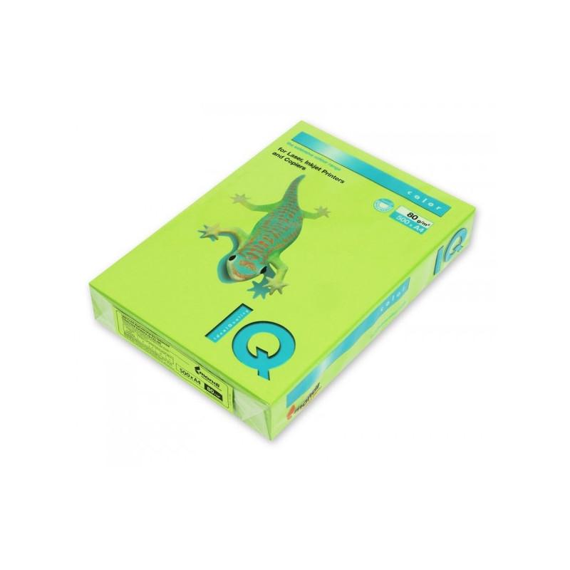 Бумага цветная IQ COLOR А4 80 г LG46-зеленая липа пачка 500 листов