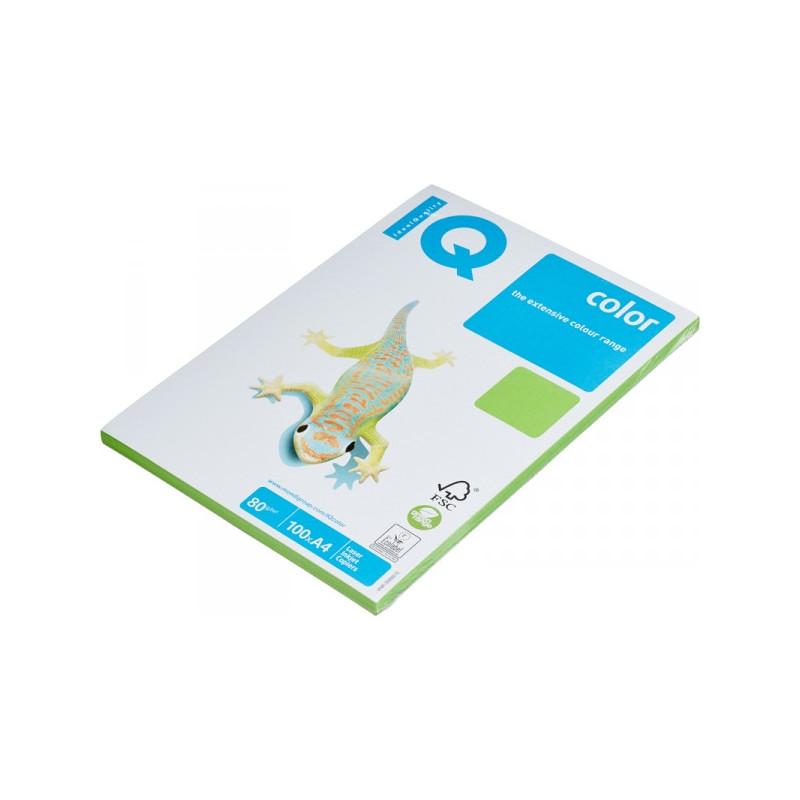 Бумага цветная IQ COLOR А4 80 г MA42-ярко-зеленый пачка 100 листов