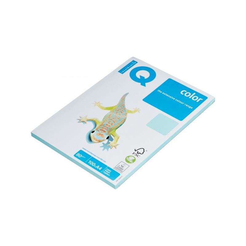 Бумага цветная IQ COLOR А4 80 г MB30-голубой пачка 100 листов