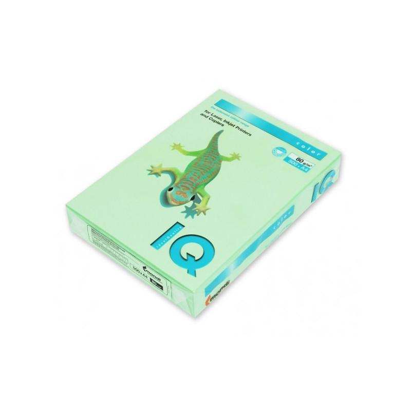 Бумага цветная IQ COLOR А4 80 г MG28-зеленый пачка 500 листов