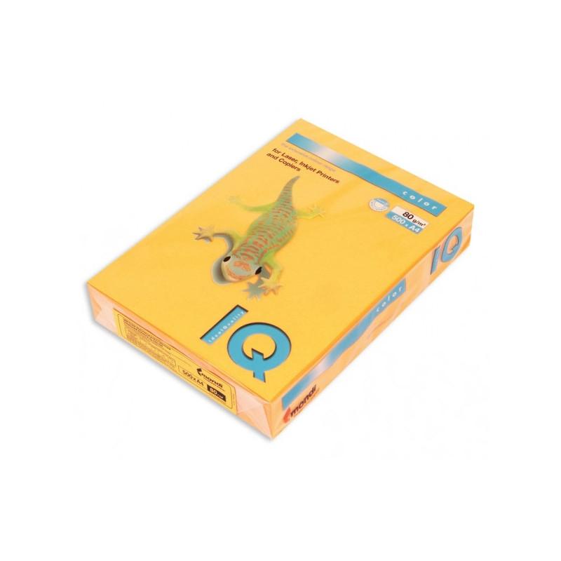 Бумага цветная IQ COLOR А4 80 г NEOOR-оранжевый неон пачка 500 листов
