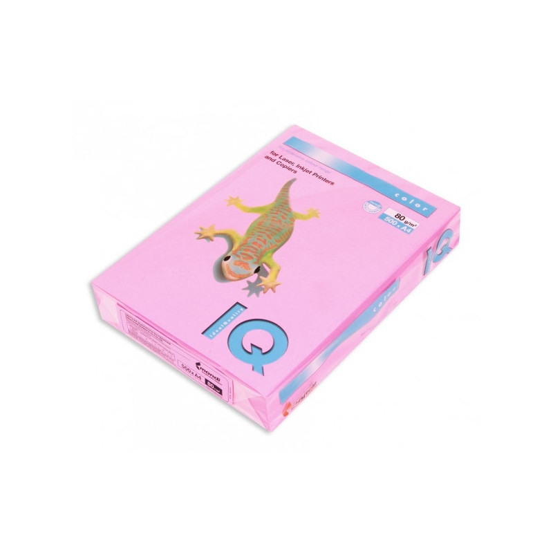 Бумага цветная IQ COLOR А4 80 г NEOPI-розовый неон пачка 500 листов