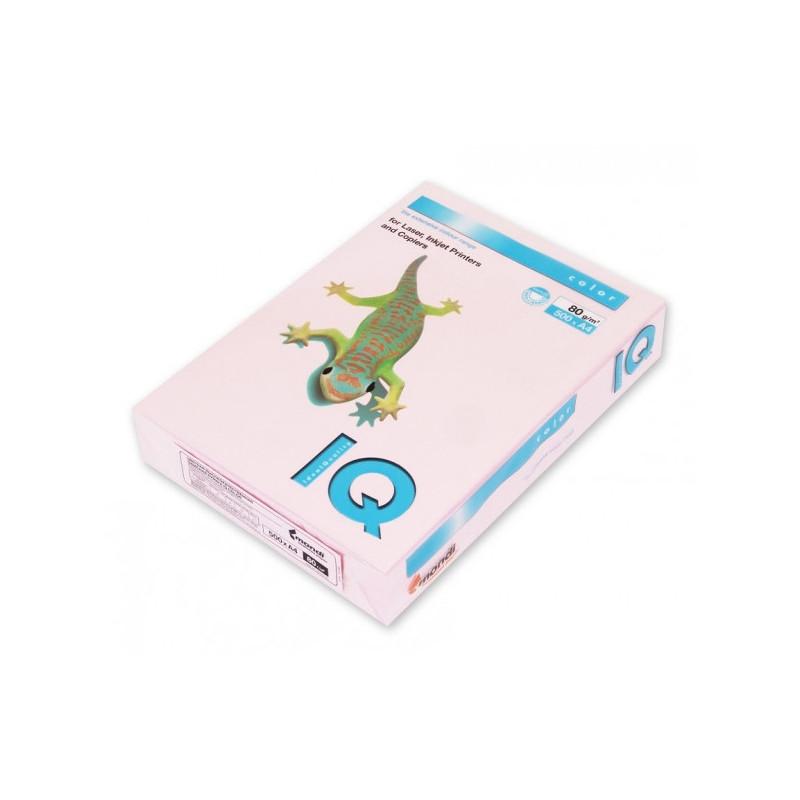 Бумага цветная IQ COLOR А4 80 г OP174-розовый фламинго пачка 500 листов