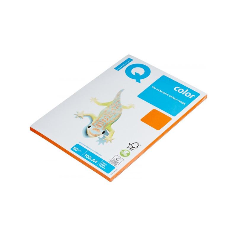 Бумага цветная IQ COLOR А4 80 г OR43-оранжевый пачка 100 листов
