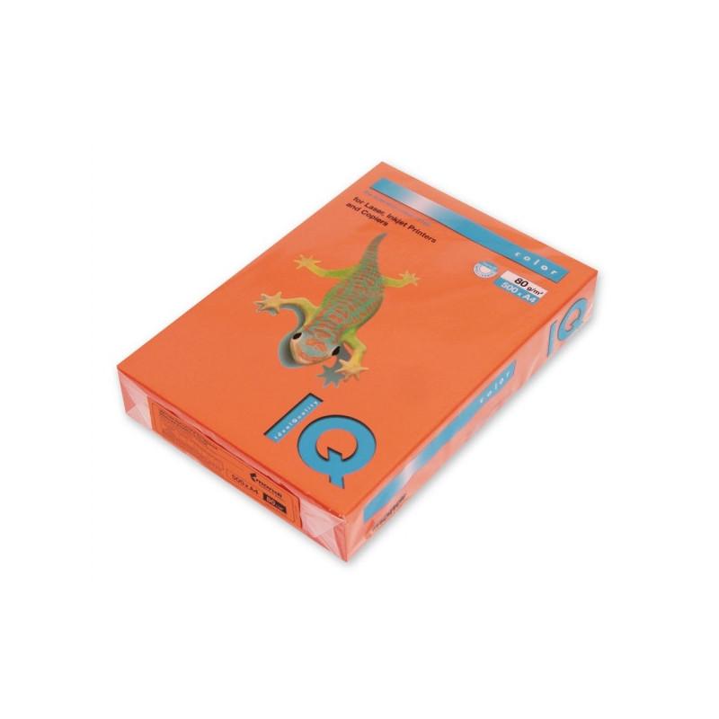 Бумага цветная IQ COLOR А4 80 г OR43-оранжевый пачка 500 листов