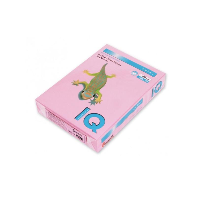 Бумага цветная IQ COLOR А4 80 г PI25-розовый пачка 500 листов