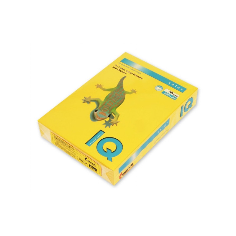 Бумага цветная IQ COLOR А4 80 г SY40-солнечно-желтый пачка 500 листов
