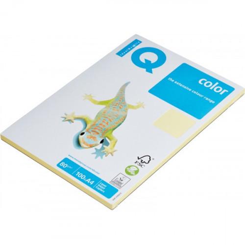 Бумага цветная IQ COLOR А4 80 г YE23-желтый пачка 100 листов