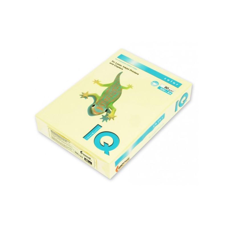 Бумага цветная IQ COLOR А4 80 г YE23-желтый пачка 500 листов