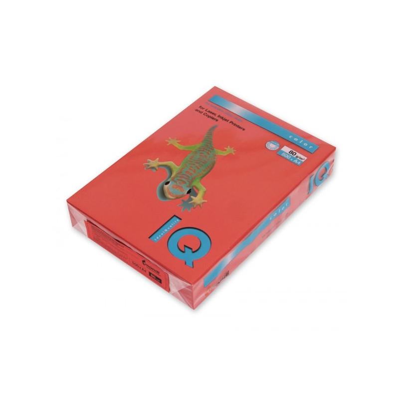 Бумага цветная IQ COLOR А4 80 г ZR09-кирпично-красный пачка 500 листов