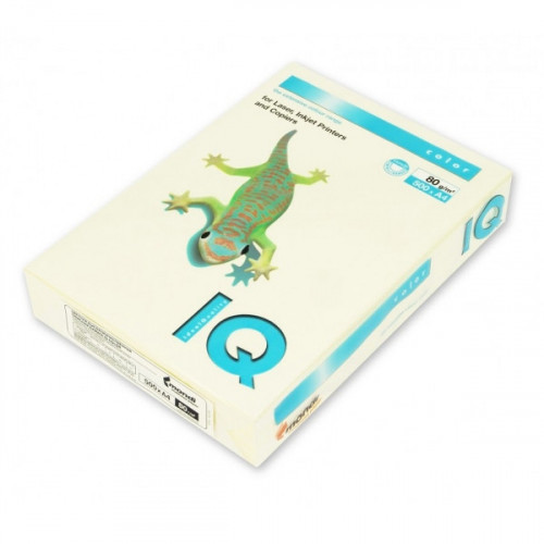 Бумага цветная IQ COLOR А4 80 г BE66-ванильно-бежевый 500 листов