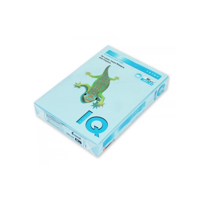 Бумага цветная IQ COLOR А4 80 г OBL70-голубой лед 500 листов