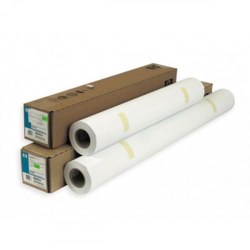 """Бумага для плоттера копировальных работ C6035A HP Bright White InkJet Paper 90 г/м2 24""""/610 мм x 45.7 метра"""
