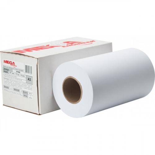 Бумага для плоттера копировальных работ MEGA Engineer А3 297мм/175метров/80 г/м2