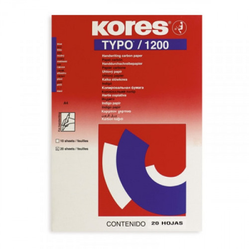 Копировальная бумага синяя KORES 1200 пачка 20 листов