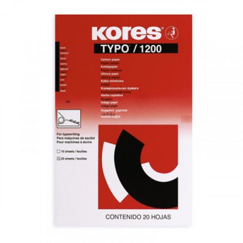 Копировальная бумага черная KORES 1200 пачка 20 листов
