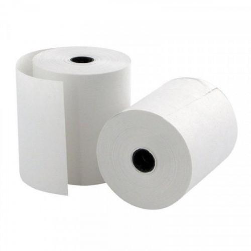 Чековая лента из офсетной бумаги 69 мм Promega jet (диаметр 52 мм, намотка 20-22 м, втулка 12 мм, 12 штук в упаковке)