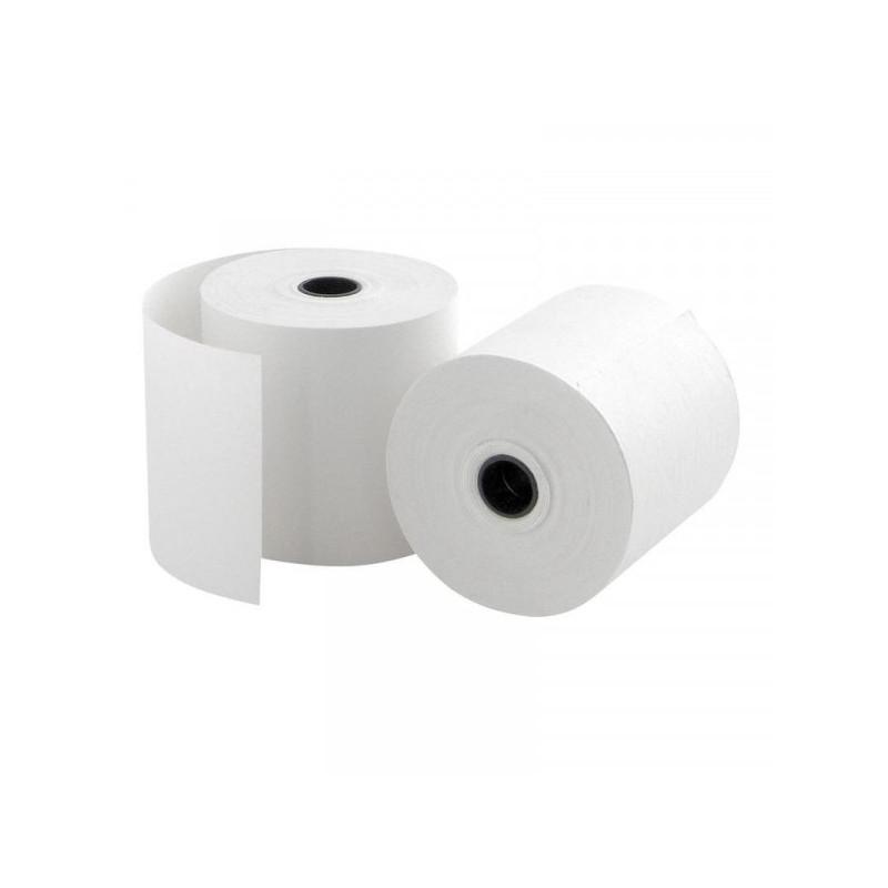Чековая лента из офсетной бумаги ProMega 57 мм диаметр 60 мм намотка 28-30 м втулка 12 мм 15 штук в упаковке