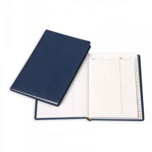 Телефонная книга Attache Вива искусственная кожа А5 96 листов синяя 202х133 мм
