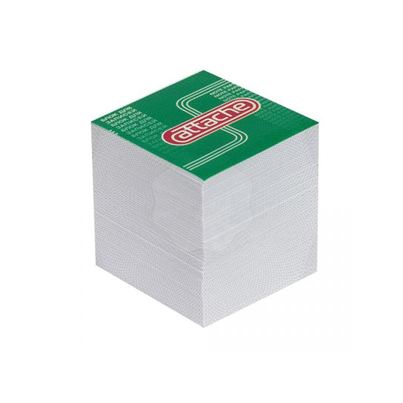 Блок-кубик запасной 9х9х9 ATTACHE белый
