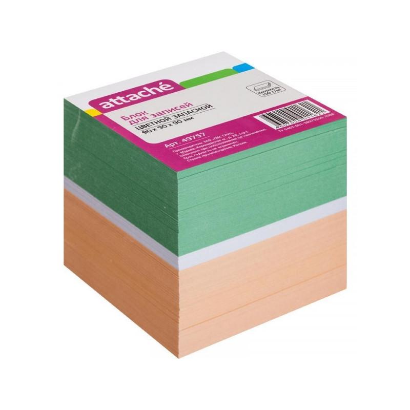 Блок-кубик запасной 9х9х9 см цветной