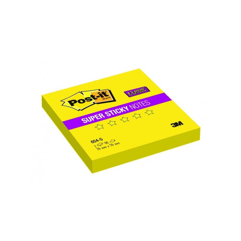 """Блок-кубик 3M """"Super Sticky"""" 76х76 мм желтый 90 листов"""