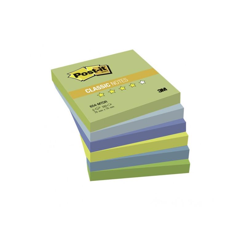 """Блок-кубик 3M бумага для заметок 76х76 """"Холодная неоновая радуга"""" 6 блоков по 100 листов"""
