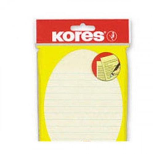 Блок-кубик Kores бум.для зам. 100х150 желтая 100л. линейка '46